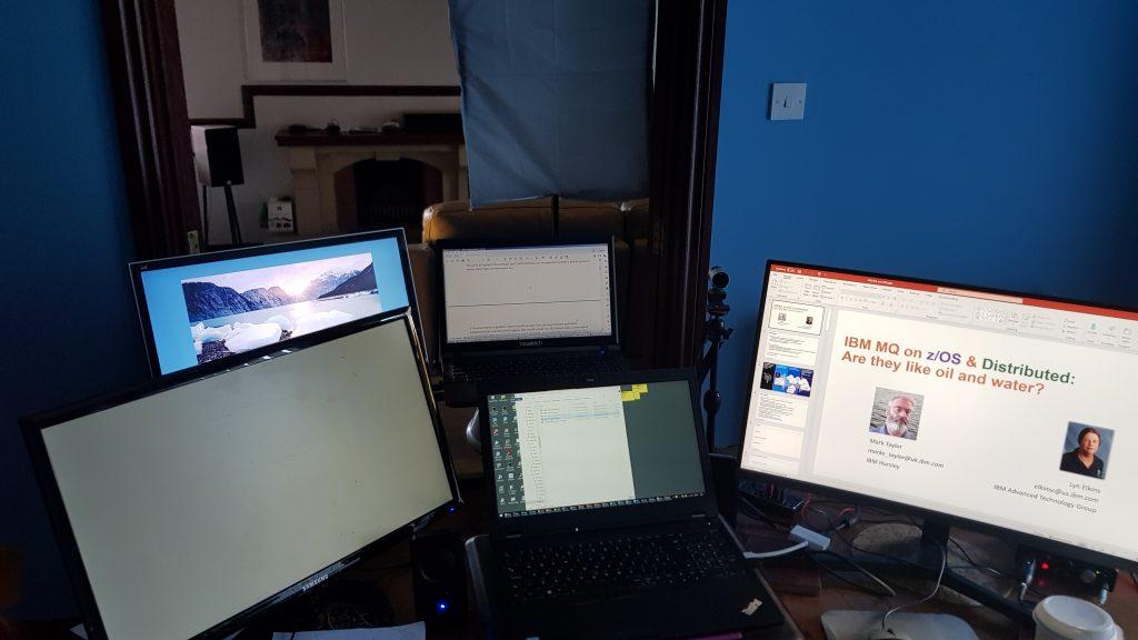 Five screens